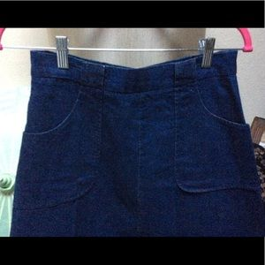 1975 Original Denim Skirt ALine Pockets Belt Loops